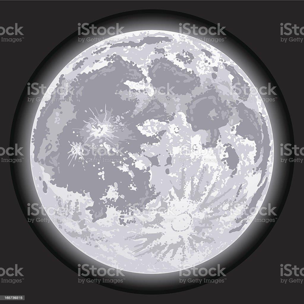 Full Moon royalty-free stock vector art