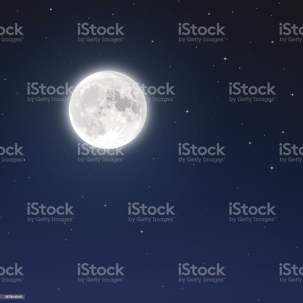 Full Moon vector art illustration