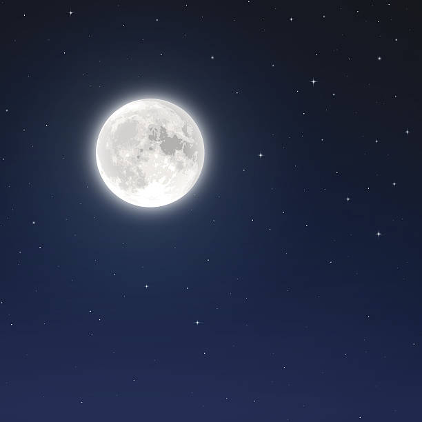 full moon - moon stock illustrations, clip art, cartoons, & icons