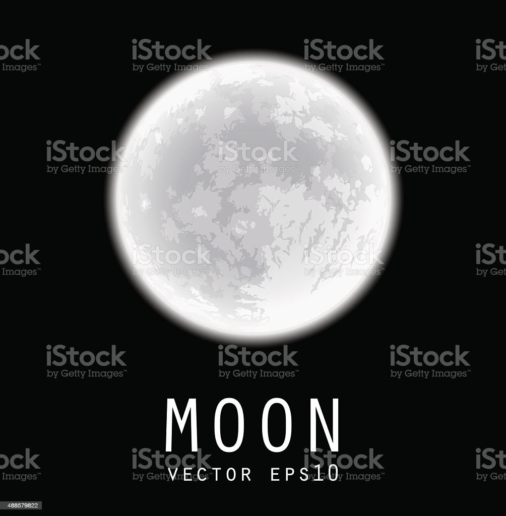 Full moon. Vector illustration. vector art illustration