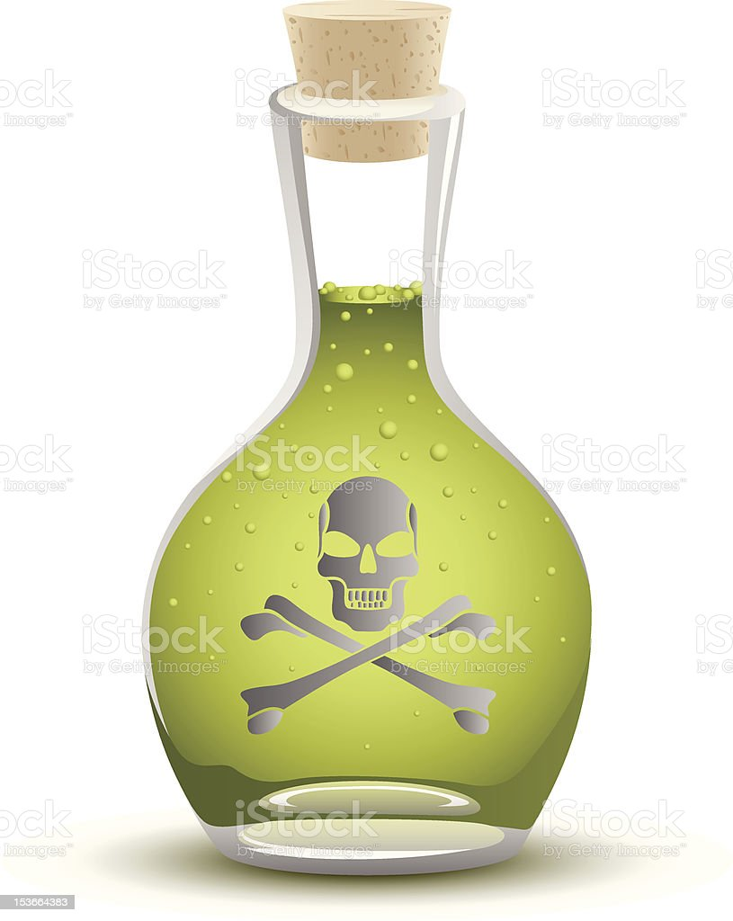 Full Poison Bottle royalty-free stock vector art