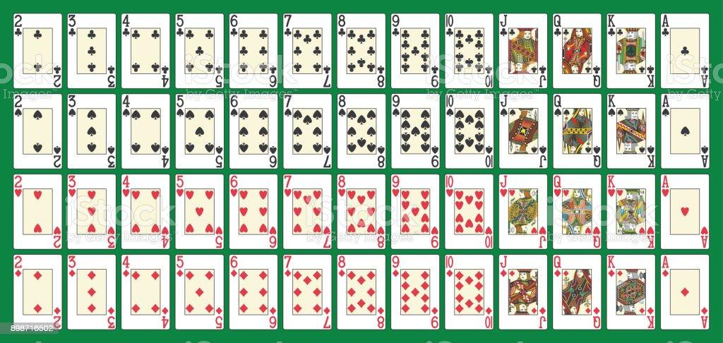 Baralho de poker completo - ilustração de arte em vetor