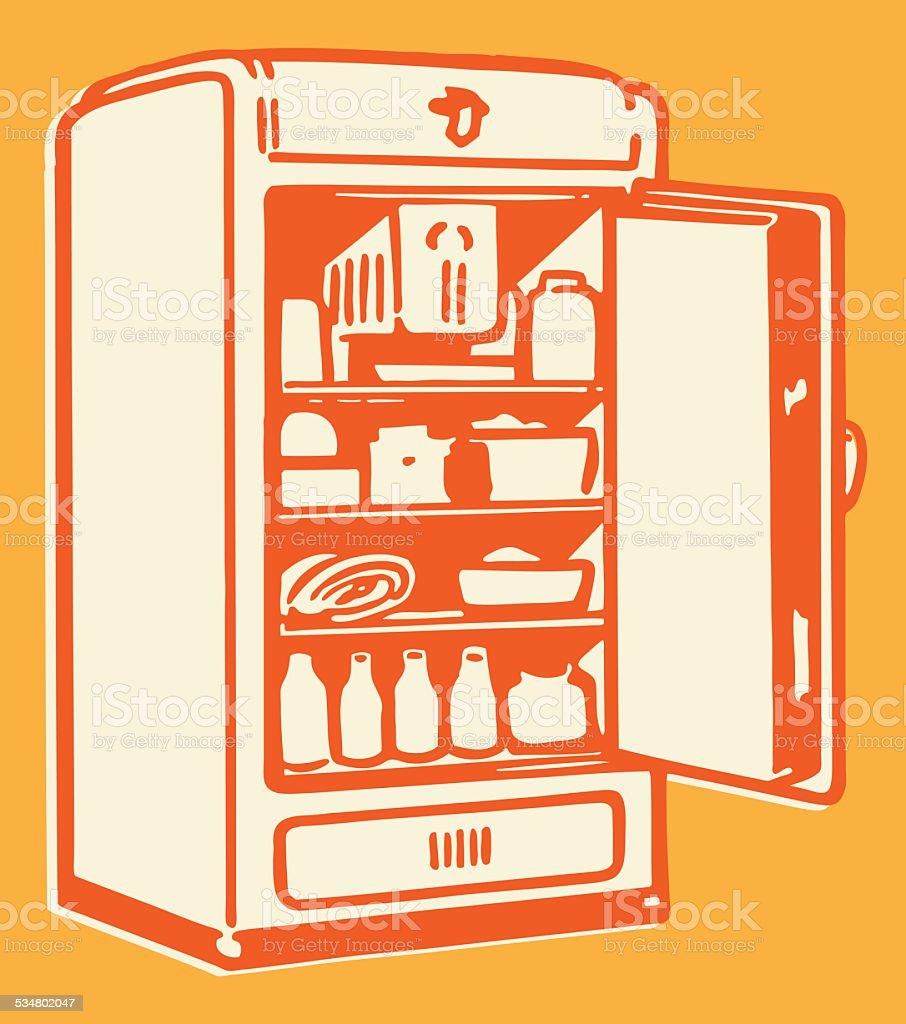 Großer Kühlschrank Vektor Illustration 534802047 | iStock