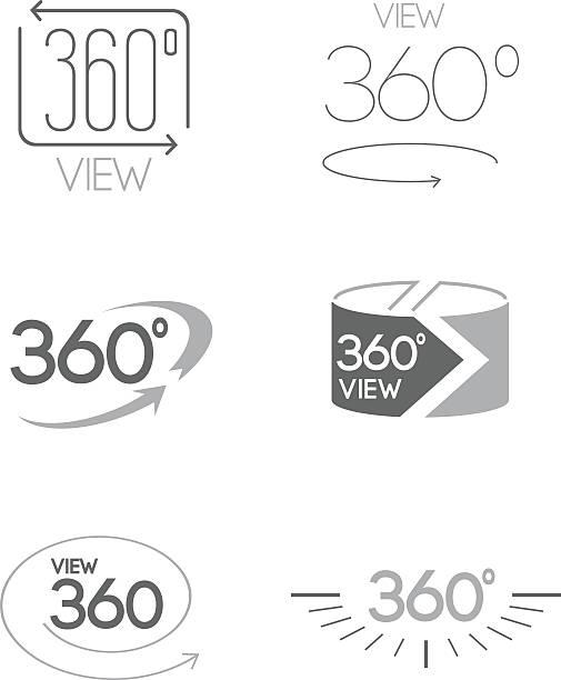 Full rotation sign icons. – Vektorgrafik