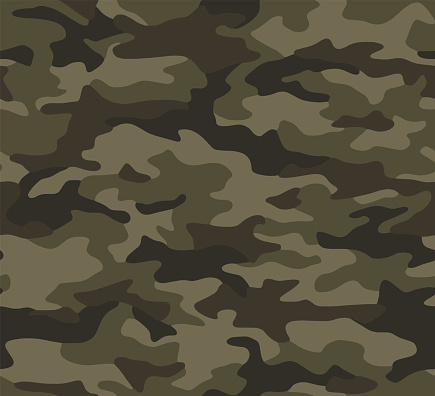 Full seamless camouflage texture skin pattern vector for military textile. Usable for Jacket Pants Shirt and Shorts.