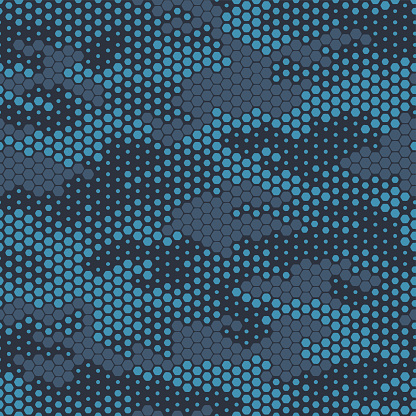 Full seamless military camouflage skin halftone dotted pattern