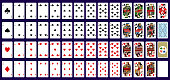 This is a vector design of full set of playing cards.
