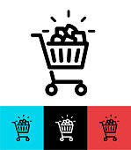 Full Shopping cart icon