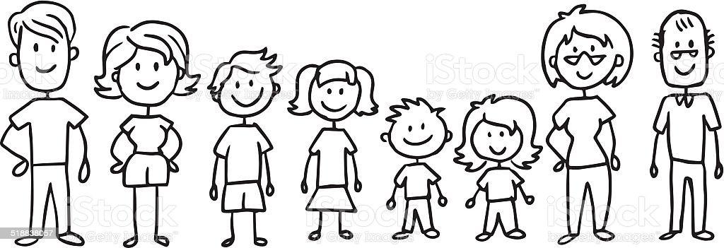 Crosse complet famille - Illustration vectorielle