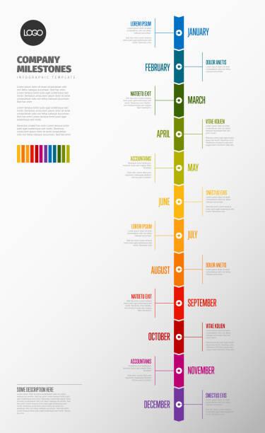 全年時程表範本 - 垂直構圖 幅插畫檔、美工圖案、卡通及圖標