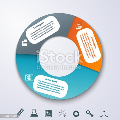 istock Fullcolor banners as a an element of the circles for infographics. Template for your design. Vector illustration 914469488