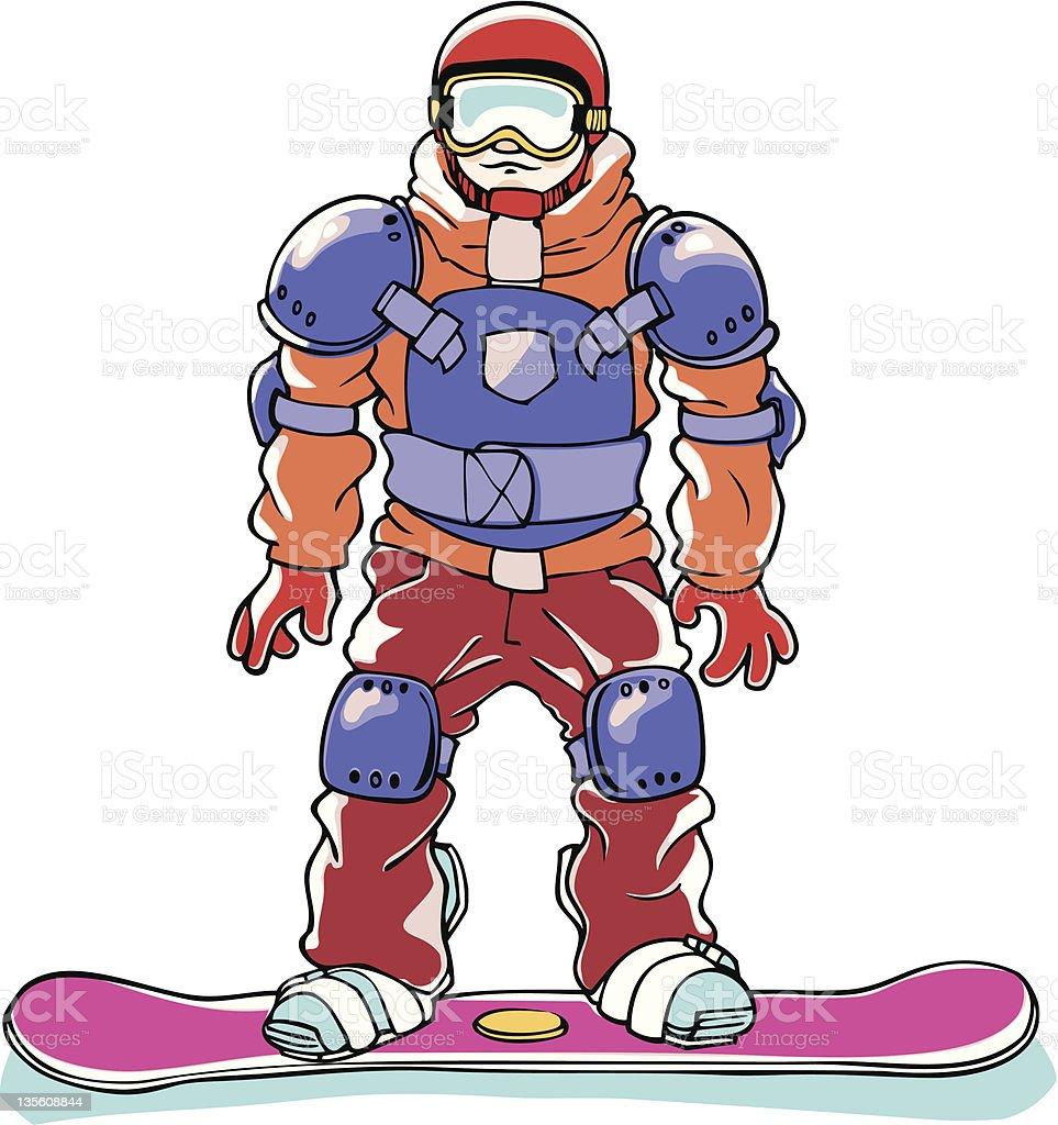snowboarder voll ausgestattet vektor illustration 135608844   istock