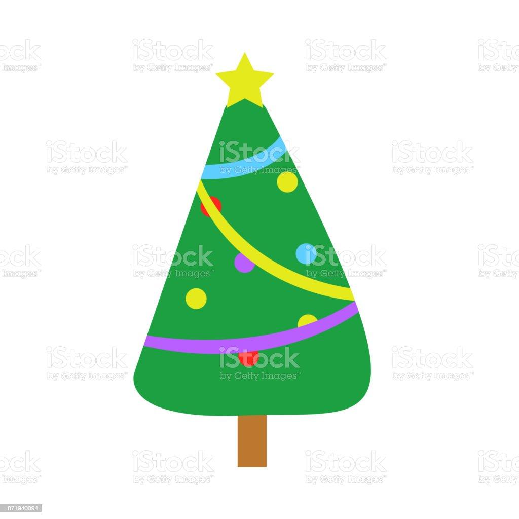 fully decorated cartoon christmas tree royalty free fully decorated cartoon christmas tree stock vector art - Fully Decorated Christmas Trees