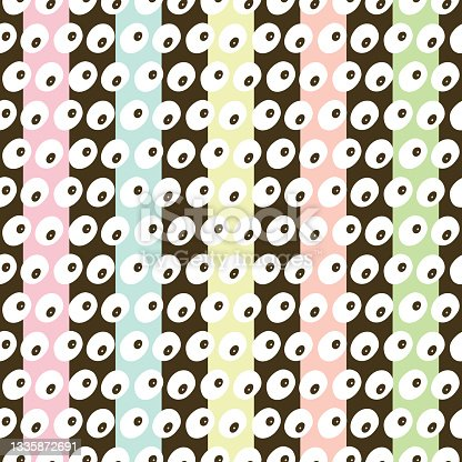 istock Fun Abstract Colorful Stripes Vector Seamless Pattern 1335872691
