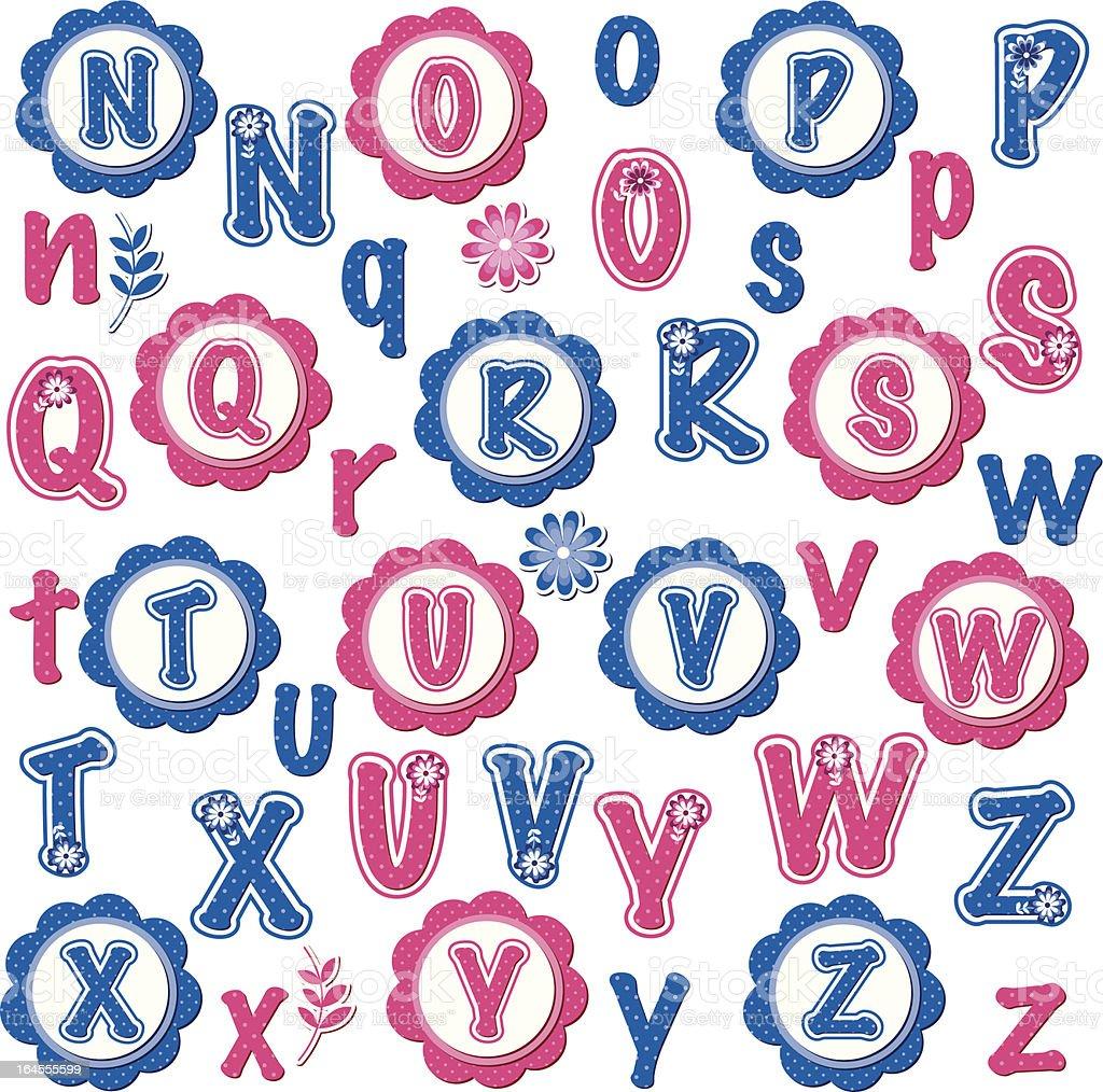 楽しい Alphabets クリップアートセットnz アルファベットのベクター