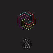 Fun and colorful modern hexagon vector concept design. Vector concept hexagon for IT. Vector illustration EPS.8 EPS.10