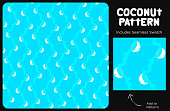 istock Fun and Creative Bright Aqua Blue Coconut Texture or Seamless Pattern for Tropical Party Decoration 1283885111