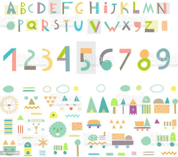 Fun and cute paper cut alphabet and figures isolated vector vector id497995809?b=1&k=6&m=497995809&s=612x612&h=nx3ahej2eduhecekekm d0oslcfx6lqfc0 jkej13mw=