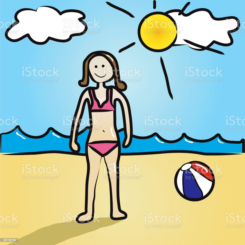 Fun At The Beach royalty-free fun at the beach stock vector art & more images of adolescence