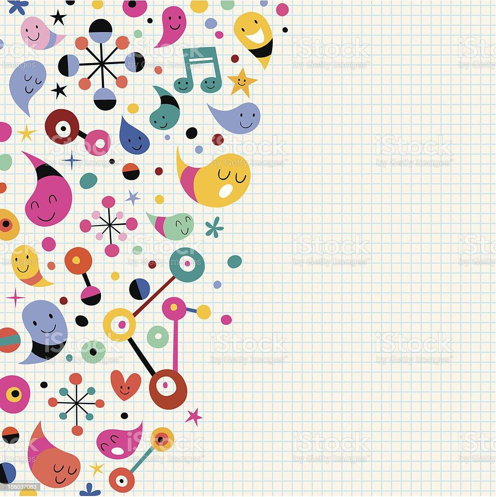fun background royalty-free stock vector art