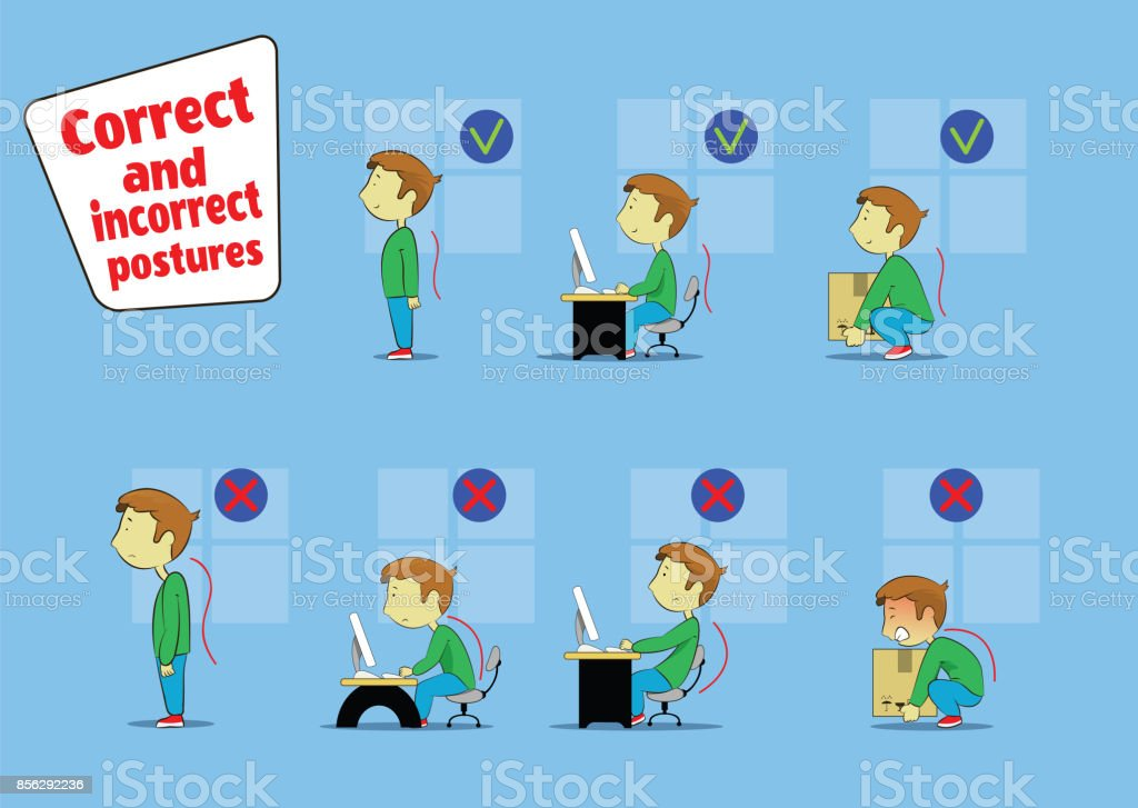 Fun cartoon boy sitting, working vector art illustration