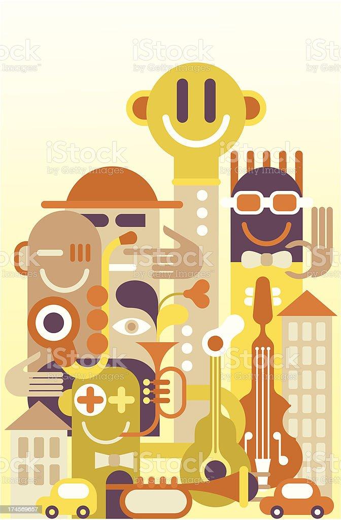 Fun City royalty-free stock vector art