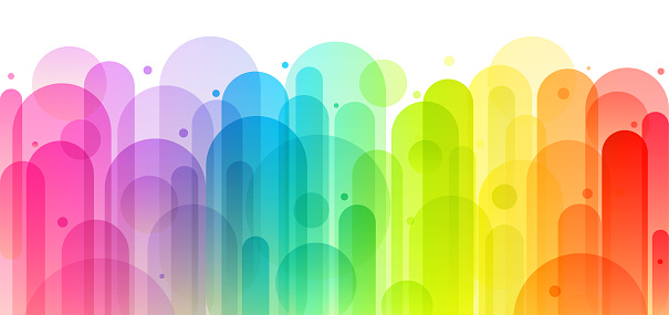 Fun colorful abstract background illustration