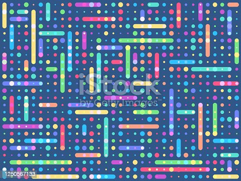Fun colorful abstract social media background vector illustration