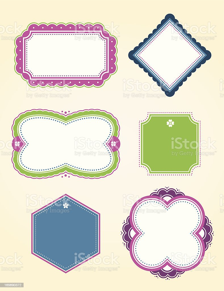 Fun Colorful Borders royalty-free stock vector art