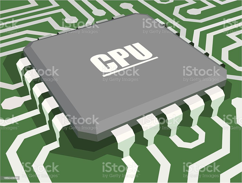 Fun CPU royalty-free stock vector art