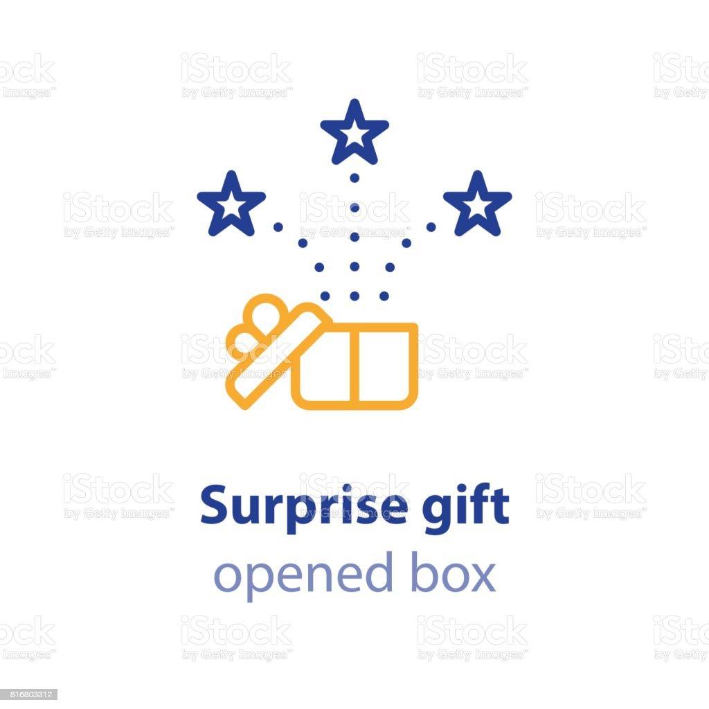 楽しい経験お祝いイベントギフト ボックスが表示現在を開く お祝いの