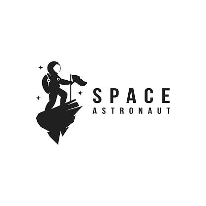 Fun explorer space astronaut mascot icon vector template
