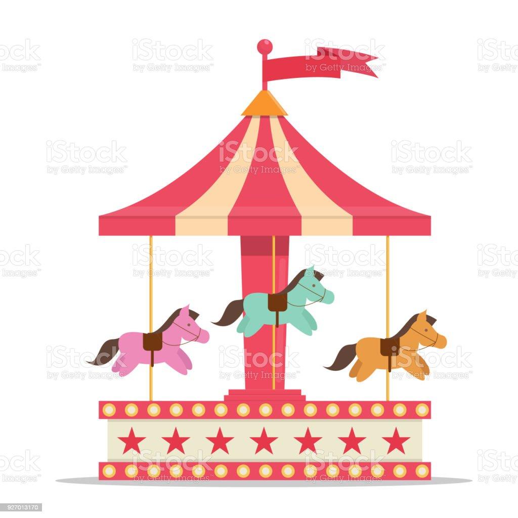fun fair carnival carousel stock vector art more images of