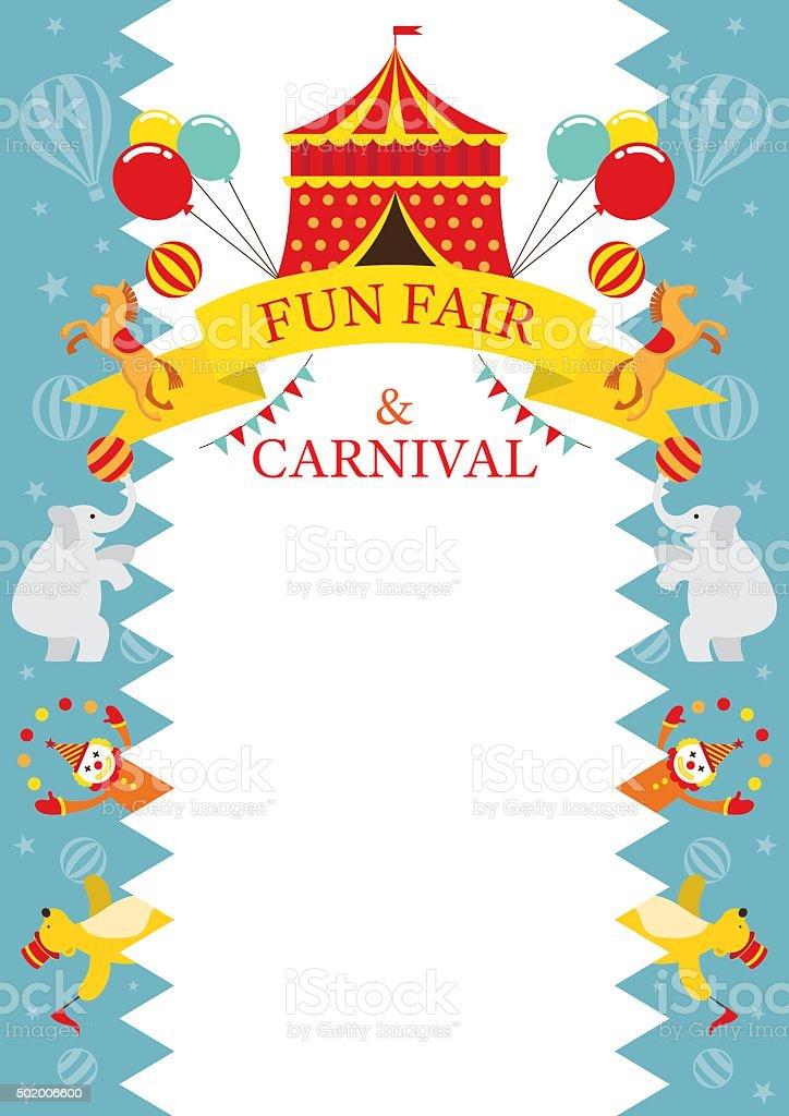 Fun Fair Carnival Circus Frame Stock Vector Art & More Images of ...