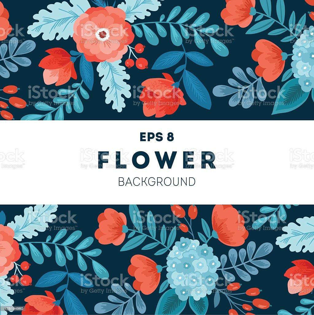 Fun Flowers design template. Vector illustration向量藝術插圖
