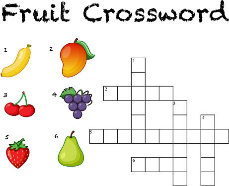 Fun fruit crossword background