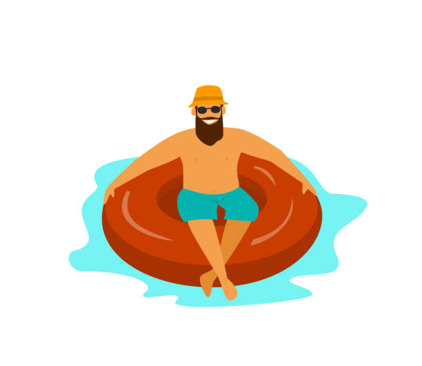 Pool Float On White Illustrations Royalty Free Vector