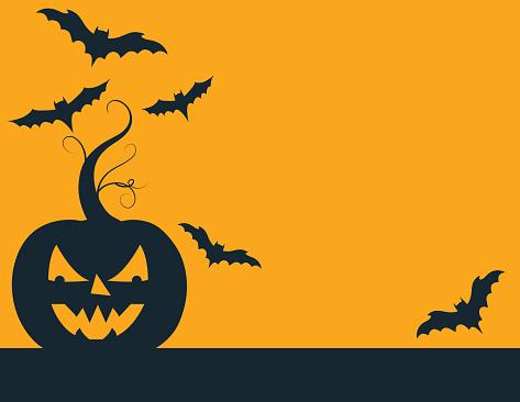 Fun Halloween Background With Jack O' Lantern