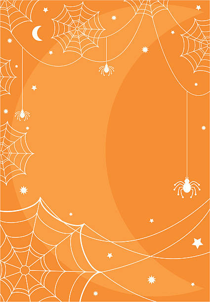 royalty free simple dangling halloween spider invite clip art