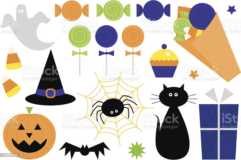 Fun Halloween Icons and Symbols royalty-free stock vector art