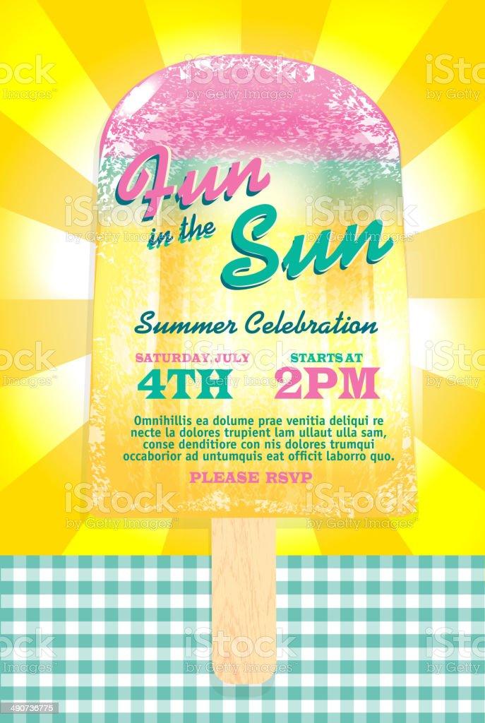 Unique Fun In The Sun Popsicle Summer Party Template Invitation Design  XP42