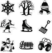 fun in the winter icons