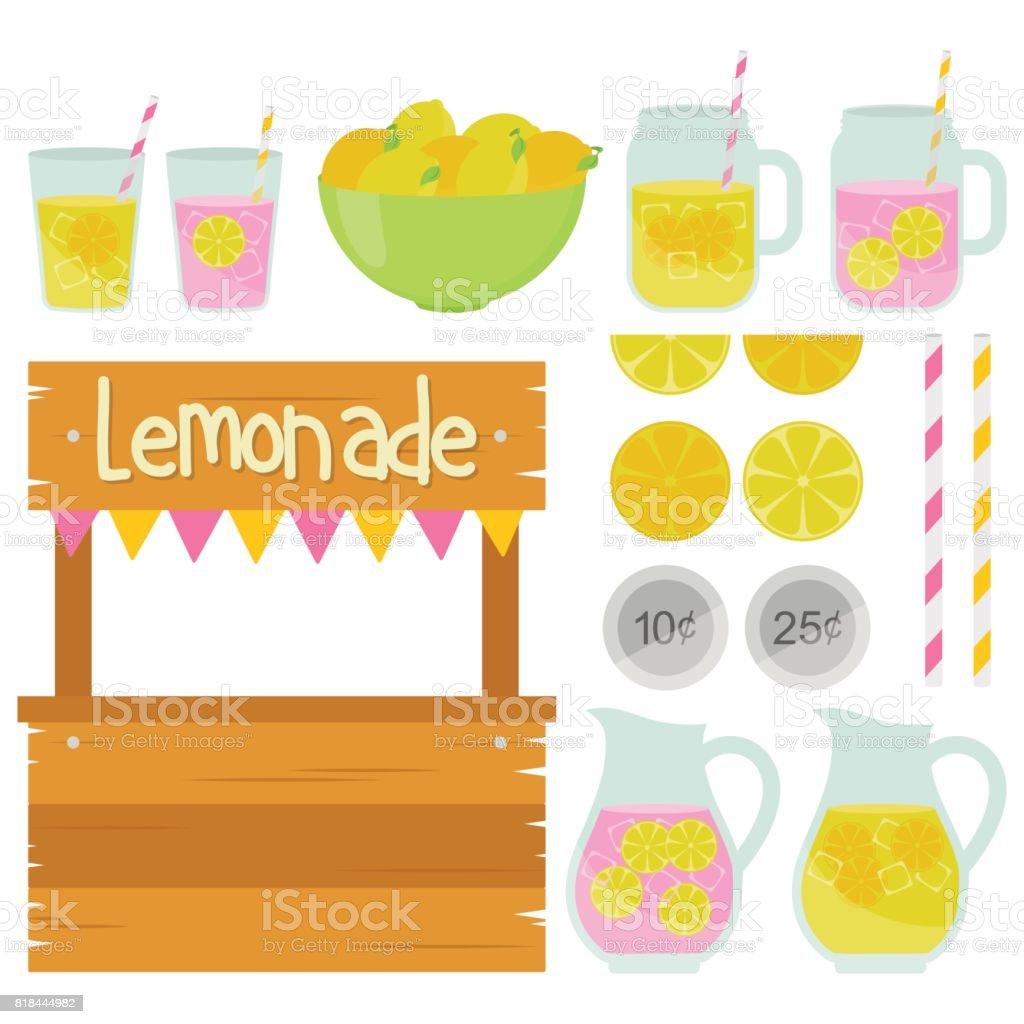 Fun Lemonade Stand - illustrazione arte vettoriale
