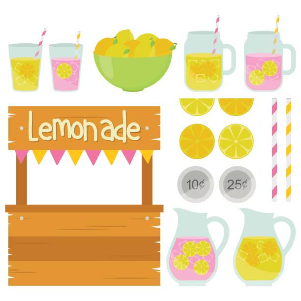 Fun Lemonade Stand Summer lemonade stand lemonade stand stock illustrations