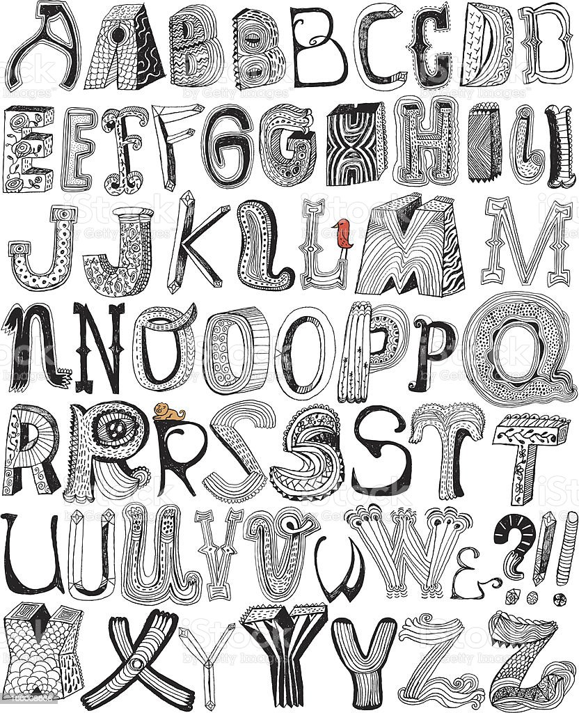 Fun letters royalty-free stock vector art