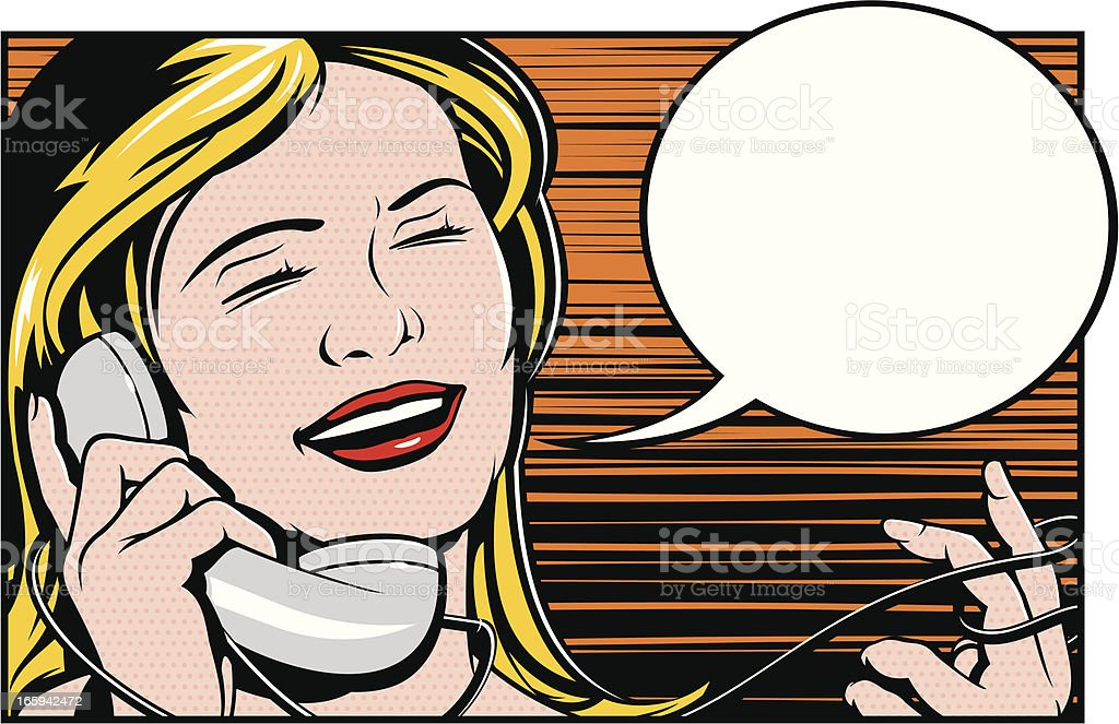 Fun on The Phone vector art illustration