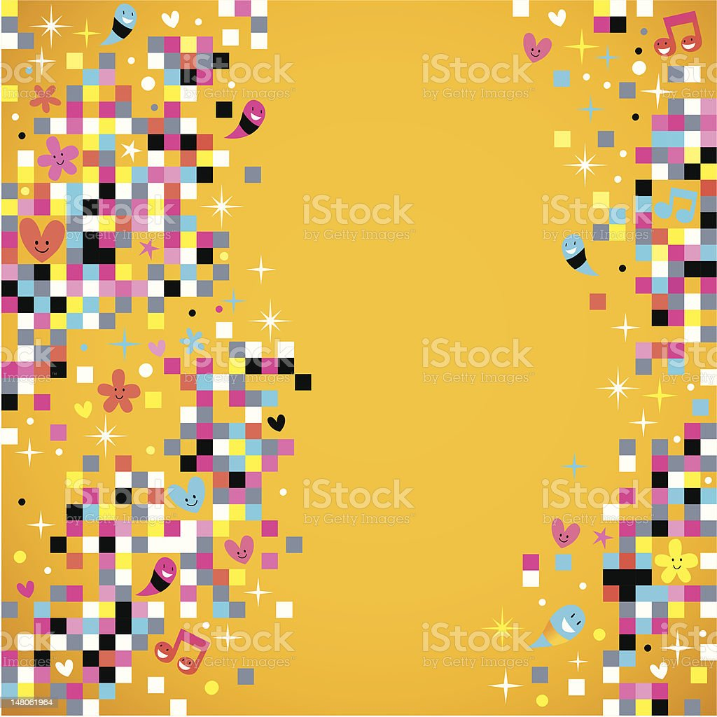 fun pixel background royalty-free fun pixel background stock vector art & more images of abstract