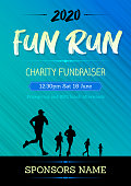 Poster for a fun run competition