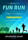 vector poster for a marathon fun run