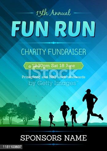 istock fun run poster 1151103837